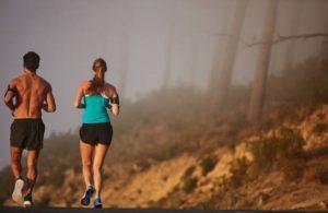 мъже, жена, кардио, тичане