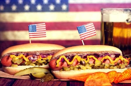 САЩ, изсмукване храна, хот-дог