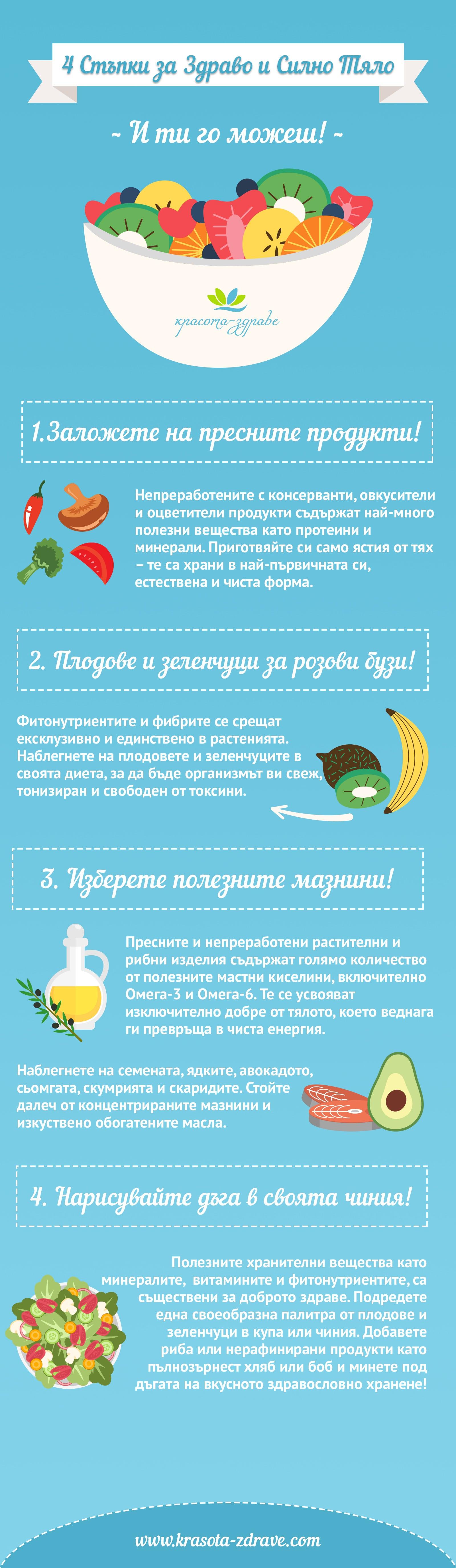 4 стъпки за здраво и силно тяло през лятото
