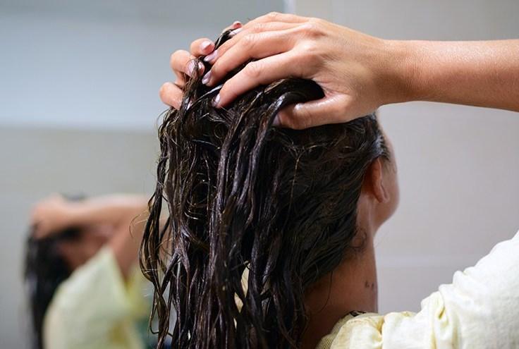 Миене на косата, маска за коса