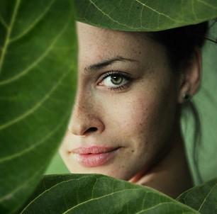 жена, листо