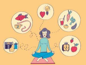медитираща жена рисунка