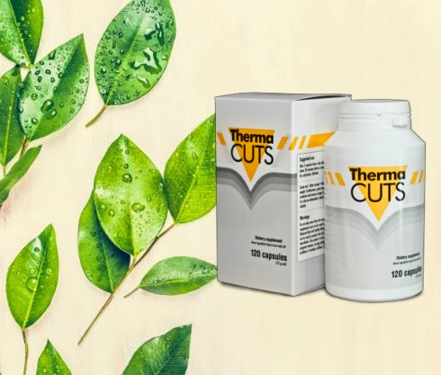 Thermacuts опаковка и листа от зелен чай