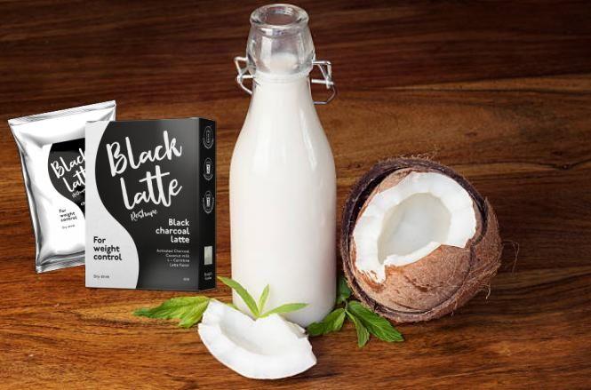 блек лате, мляко, кокос