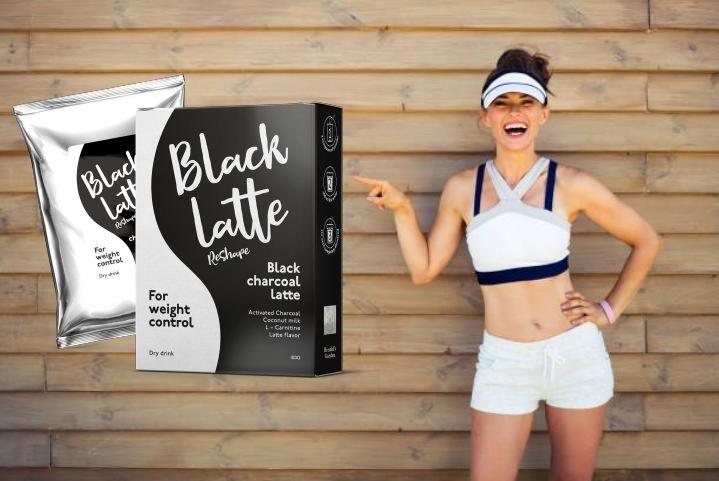Black Latte опаковка и момиче