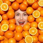 Женско лице в портокали