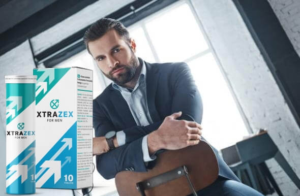 xtrazex опаковка и самоуверен мъж