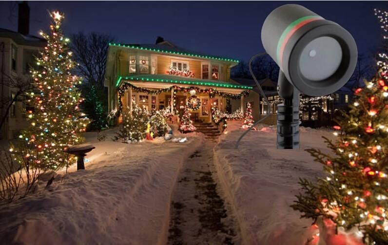 BabysBreath Laser Light, къща с коледна украса