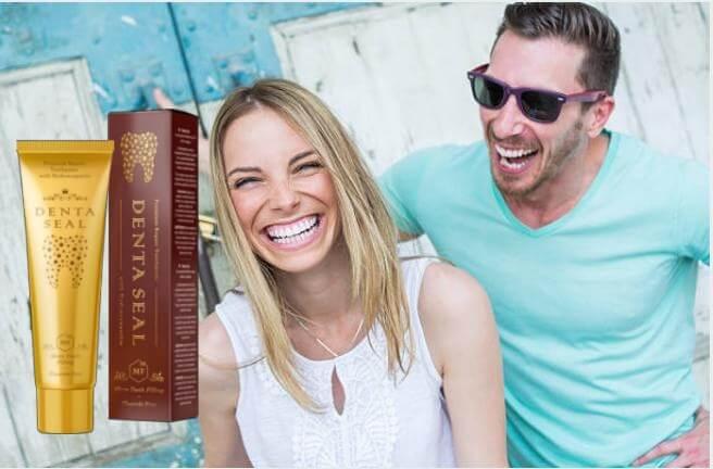 Denta Seal опаковка, усмихнати мъж и жена