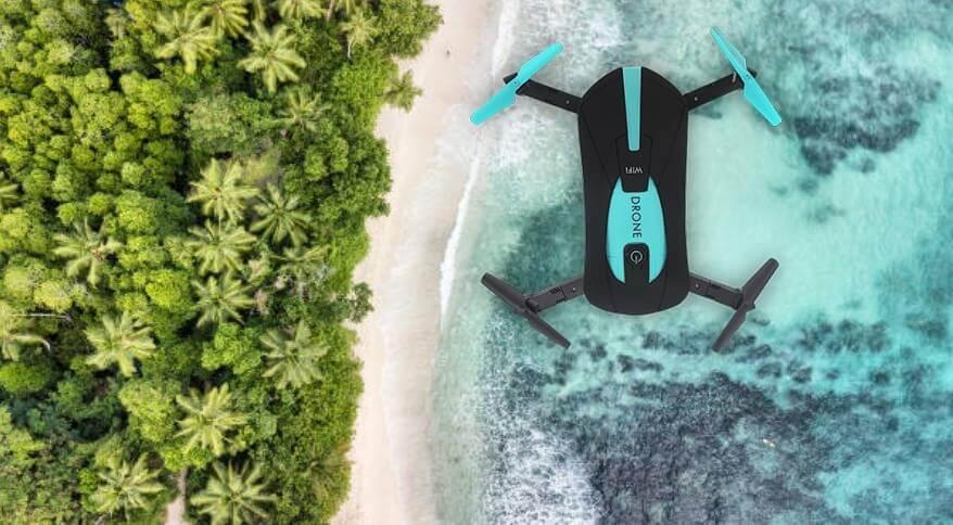 Drone 720x над див плаж