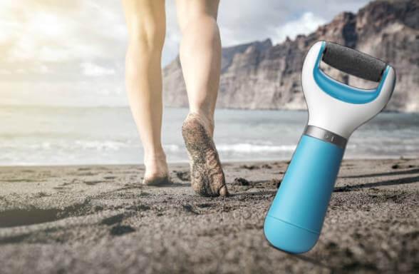 Electric Foot File, крака на плажа