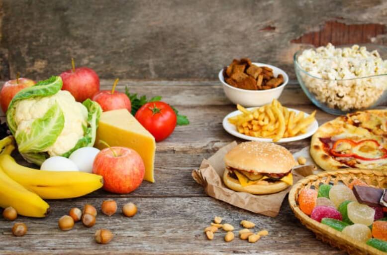 зеленчуци и вредна храна