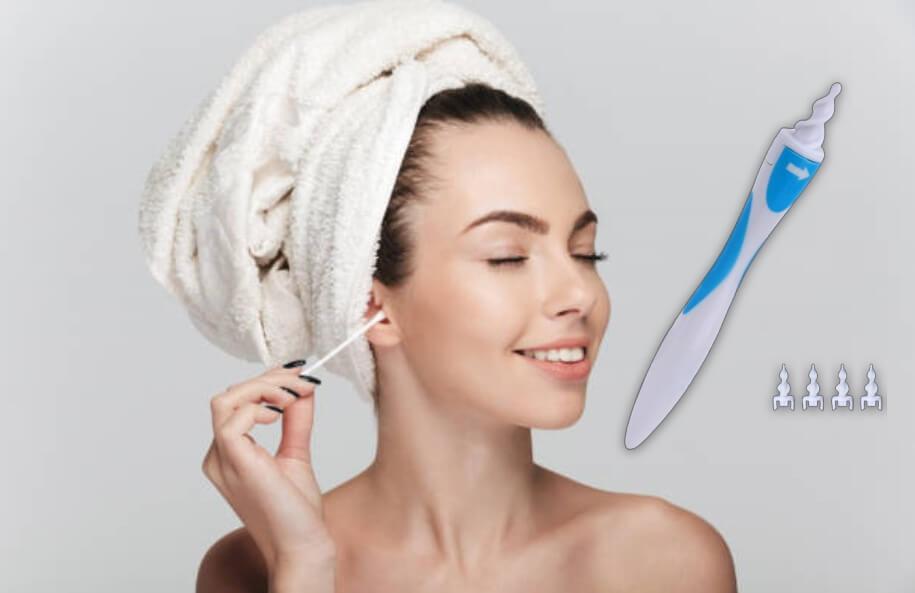 Smart Swab, жена, която си почиства ушите