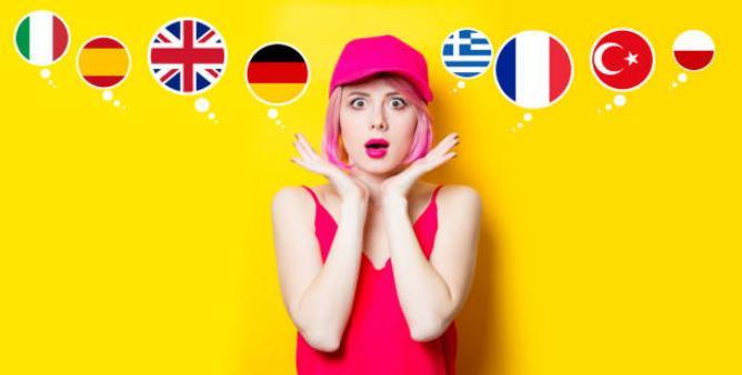 момиче, различни знамена