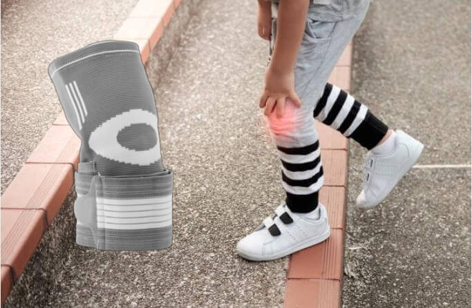 човек, с болки в коляното и наколенка Sport Knee Pad