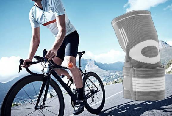 Sport Knee Pad наколенка и мъж на колело