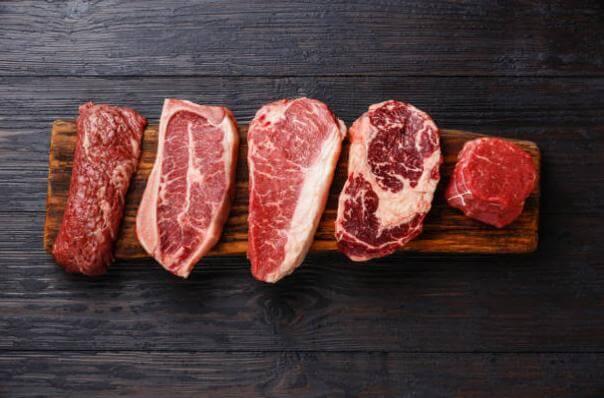 различни видове месо