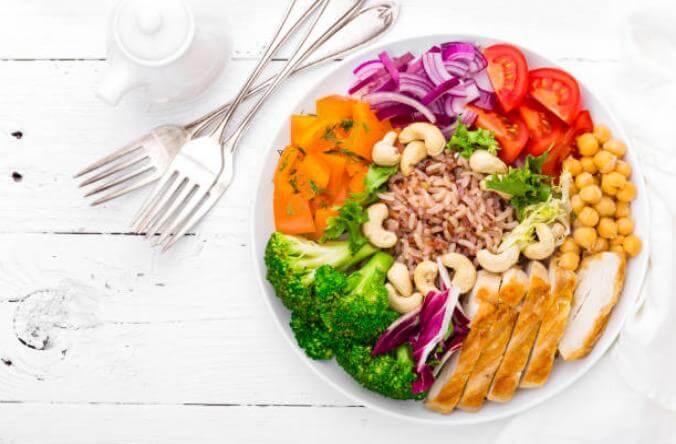 здравословно хранене, чиния със зеленчуци