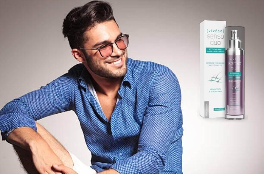 Vivese Senso Duo Shampoo, доволен мъж