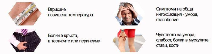 висока температура главоболие, болки в кръста, умора