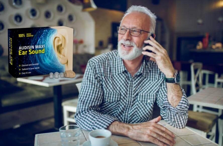 Audisin Maxi Ear Sound, мъж говори по телефон