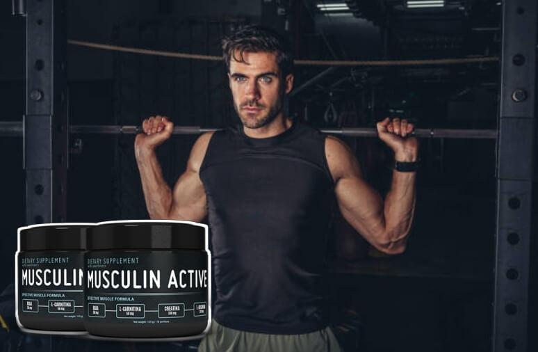 Musculin Active, мъж, вдигащ щанга