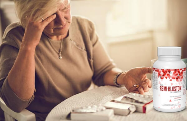 Remi Bloston, жена приема лекарства