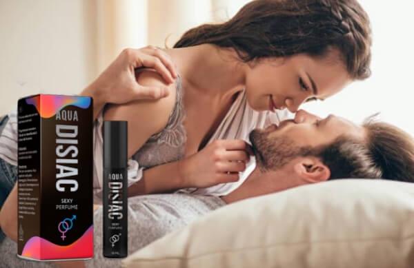 Aqua Disiac, мъж и жена в легло