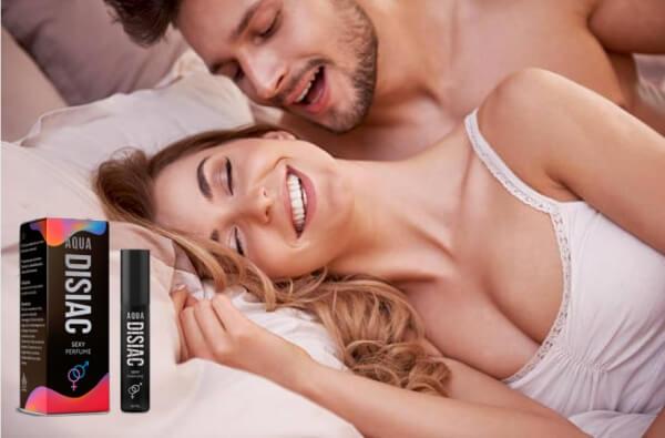 Aqua Disiac парфюм, жена и мъж в легло
