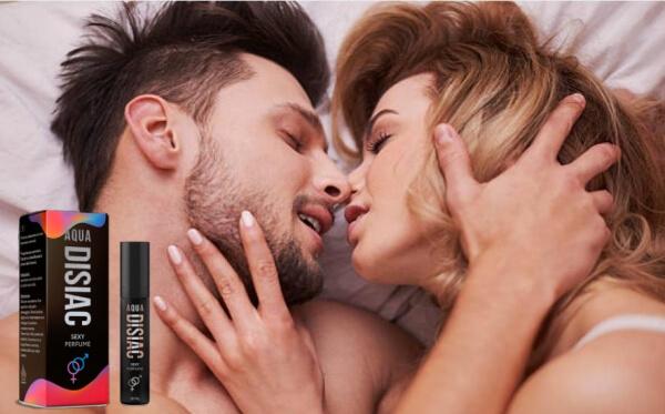 Aqua Disiac, мъж целува жена в легло