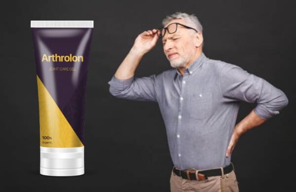 Arthrolon гел, мъж с болки с кръста