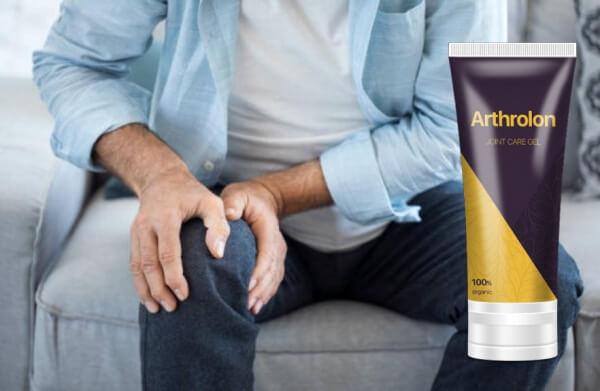 Arthrolon, мъж с болки в коляно