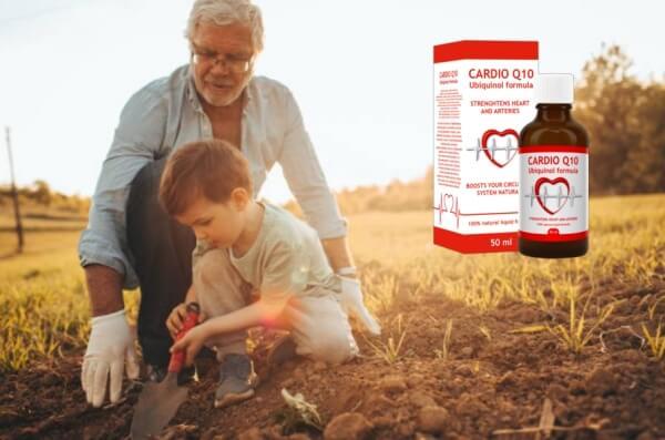 Cardio Q10, дядо и внуче в градината