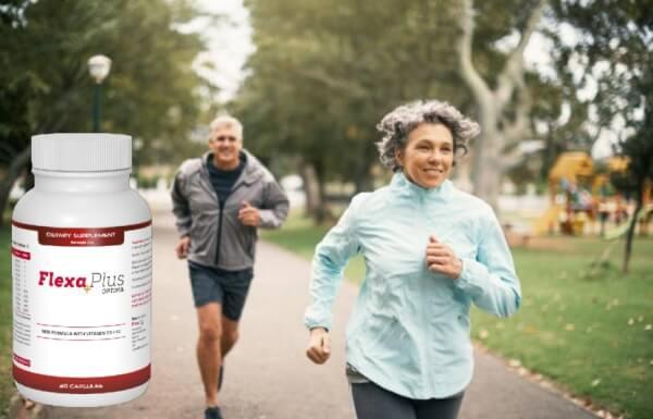 Flexa Plus Optima, мъж и жена тичат в парк