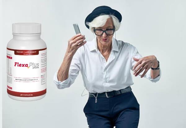 Flexa Plus Optima, възрастна жена танцува