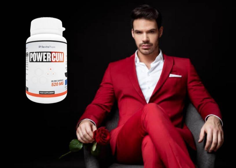 Powercum, стилен мъж с роза