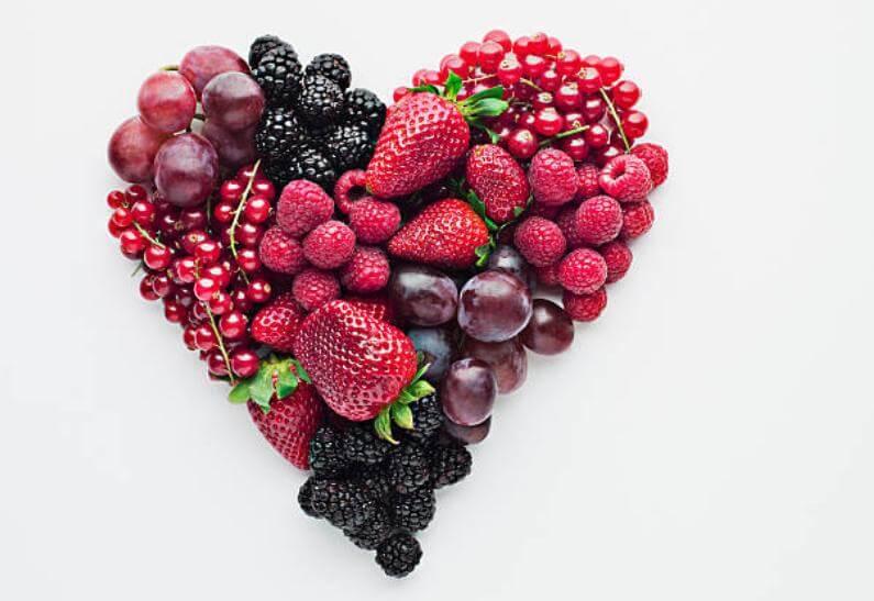 горски плодове, сърце