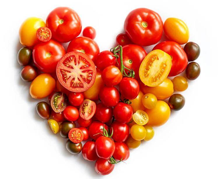 домати, сърце