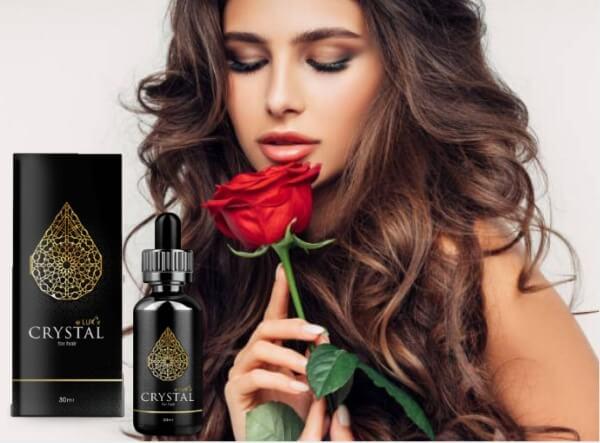 Crystal Eluxir, жена с роза