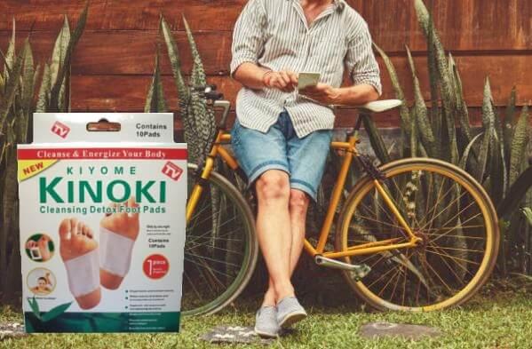 Kinoki Detox Pads, мъж на колело