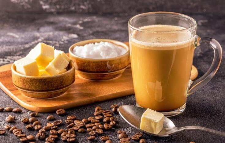 бронирано кафе, масло