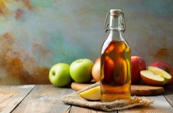 оцет, ябълки