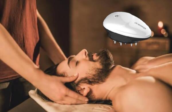 LPE Massager, масаж на главата, мъж