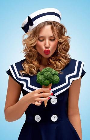 жена, сладолед от броколи