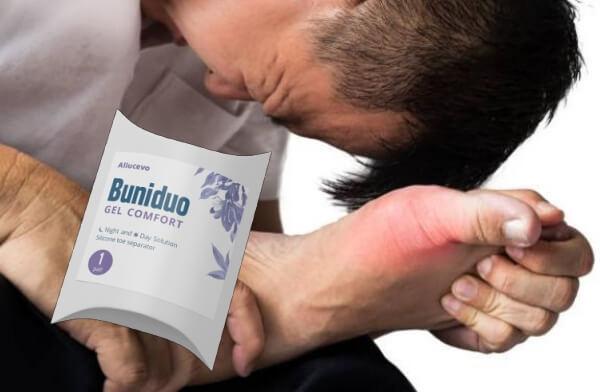 Buniduo gel comfort, мъж с болки в кокалчето