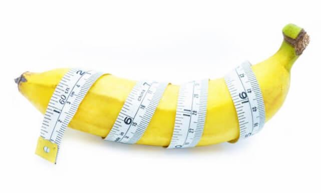 банан, сантиметър