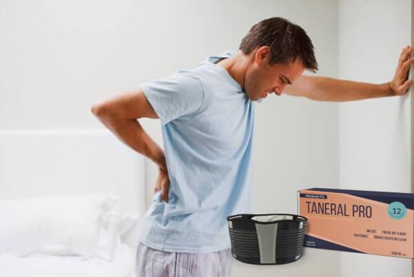 Taneral Pro колан, мъж с болки