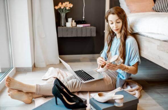 жена, поръчки, връщане, лаптоп, обувки