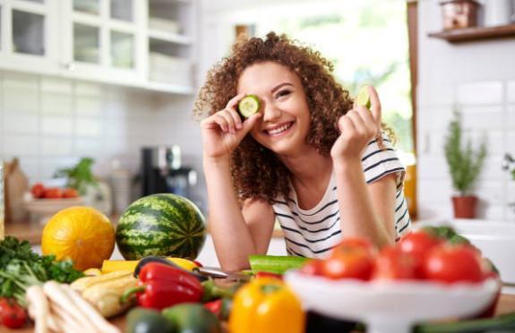 жена, диета, зеленчуци