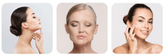 стареене на кожа, жени